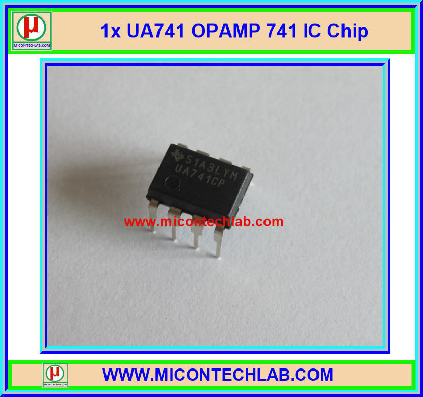 1x UA741 Operational Amplifiers 741 Op Amp IC Chip